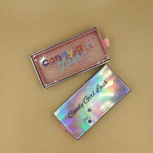 Drawer Pink Holigraphic Eyelash Packaging Box
