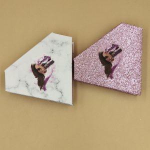 glitter diamond eyelash packaging box