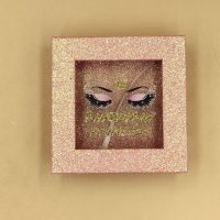 Pink Glitter Packaging Box with Clear Window