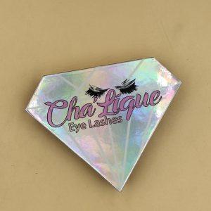 Holographic Shape Paper Eyelash Box