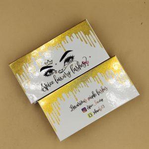Eyelash Packaging Gold Dripping Boxes
