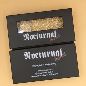 Black PaperEmpty Eyelash Packaging Box