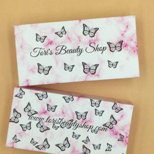 Wholesale Custom Pink Marble Eyelash Boxes