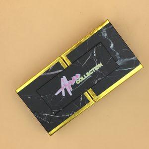 Open-Door Black Marble Lash Box Packaging