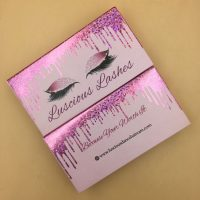 Wholesale Eyelash Packaging Boxes With Dripping