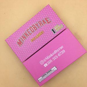 Pink Empty Eyelash Woods Boxes