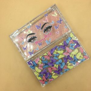 Colorful Butterflies Acrylic Eyelash Boxes