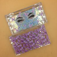Acrylic Packaigng Boxes With Purple Butterflies