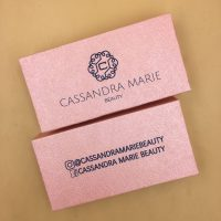 Light Pink Custom Eyelash Packaging Boxes