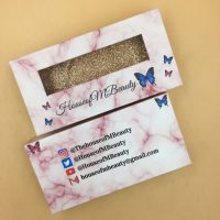 Wholesale Pink Marble Eyelash Packaging Boxes
