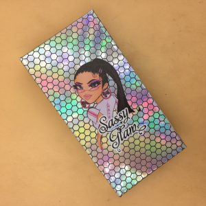 Custom Holographic Eyelash Woods Packaging Boxes