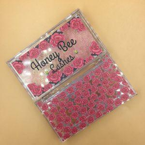 Custom Acrylic Eyelash Packaging Boxes With Rose