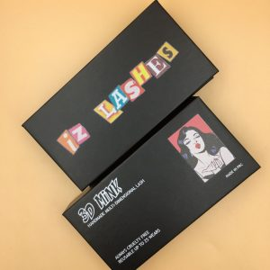 Custom Black Eyelash Packaging Boxes WIth Logo