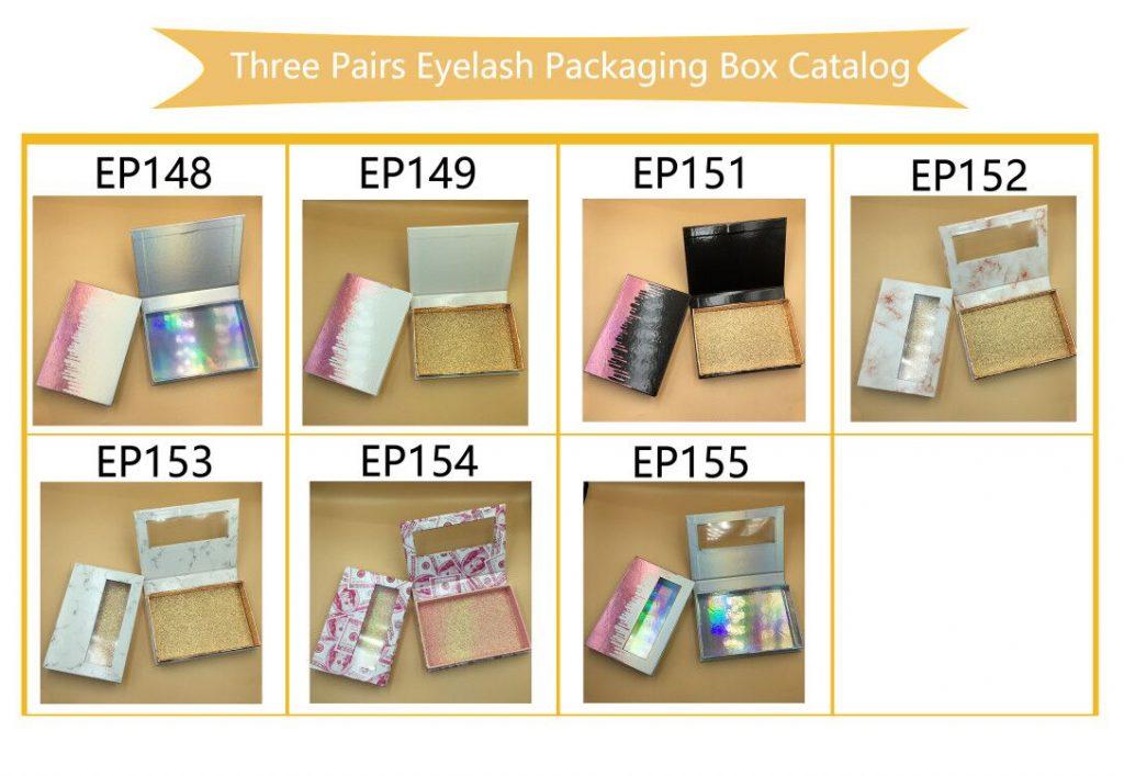 Three Pairs Eyelash Packaging Box Catalog