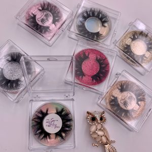 Square Acrylic Eyelash Packaging Boxes