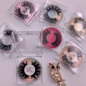 Square Acrylic Eyelash Packaging Boxes