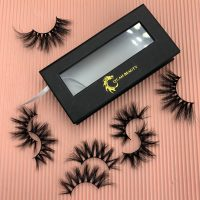 Custom Black Eyelash Packaging Boxes With Window