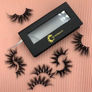 Custom Black Eyelash Packaging Boxes With Window