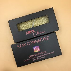 Black Eyelash Packaging Boxes With Window