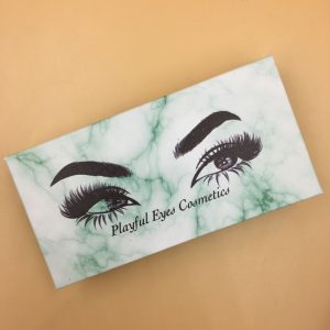 Green Marble Eyelash Packaging Boxes