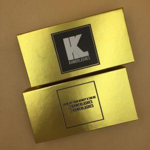 Custom Gold Eyelash Packaging Boxes