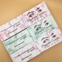 Wholesale Pink Marble Eyelash Packaging Boxes