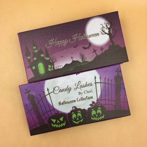 Halloween eyelash packaging box with your logo