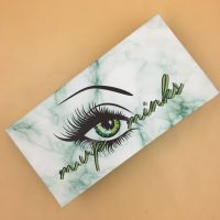 Custom Green Marble Eyelash Packaging Boxes With Logo