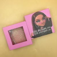Custom Light Pink Eyelash Packaging Boxes WIth Logo