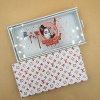 White Sliding Eyelash Packaging Boxes Luxury