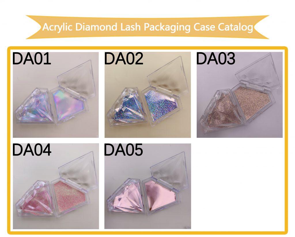 Diamond Acrylic Eyelash Packaging