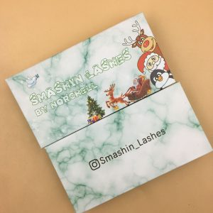 Christmas theme eyelash packaging box