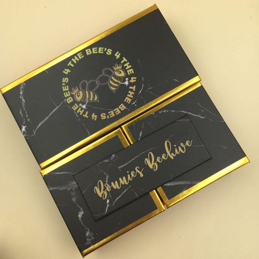 Open-Door Black Eyelash Packaging Box