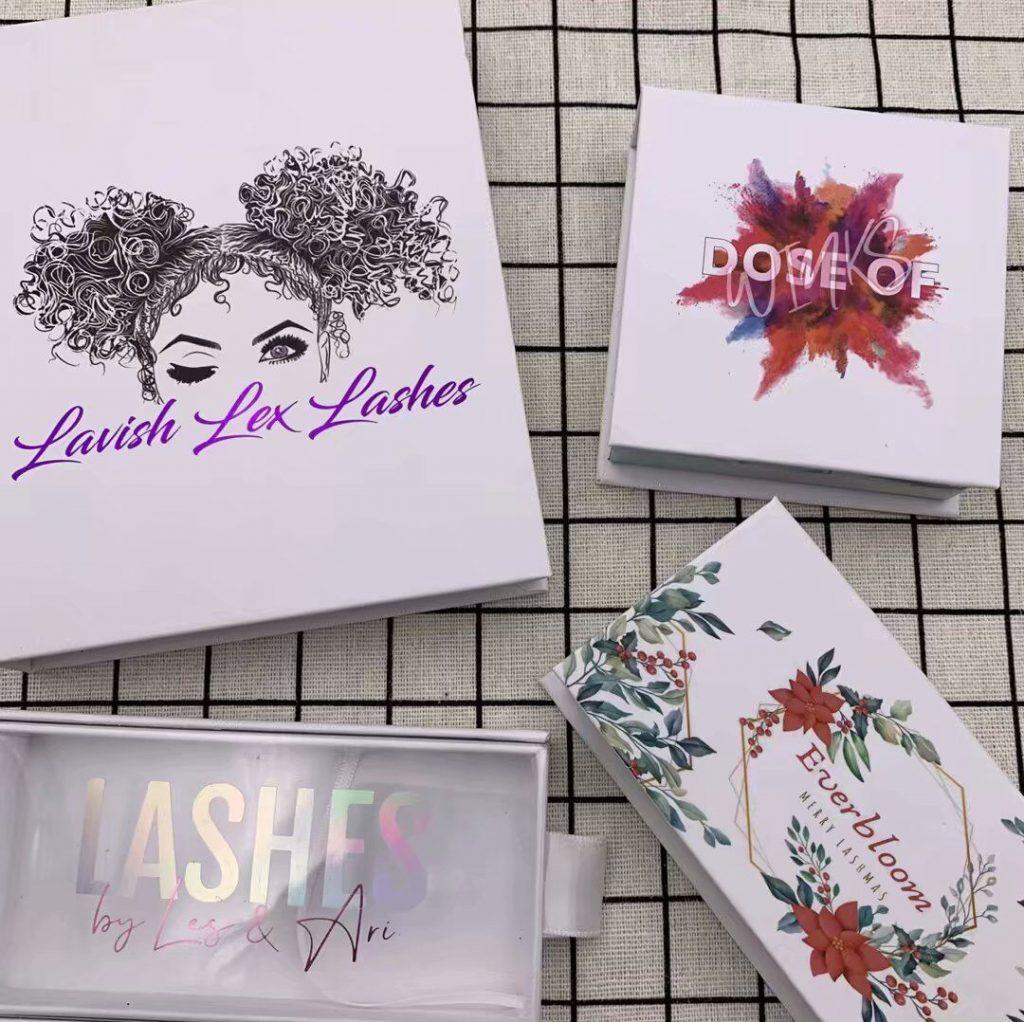 White Eyelash Packaging Box