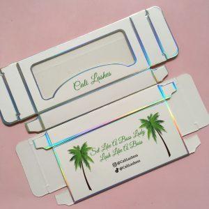 White Paper Card Eyelash Packaging Box