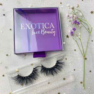 Purple Sliding Eyelash Packaging Box