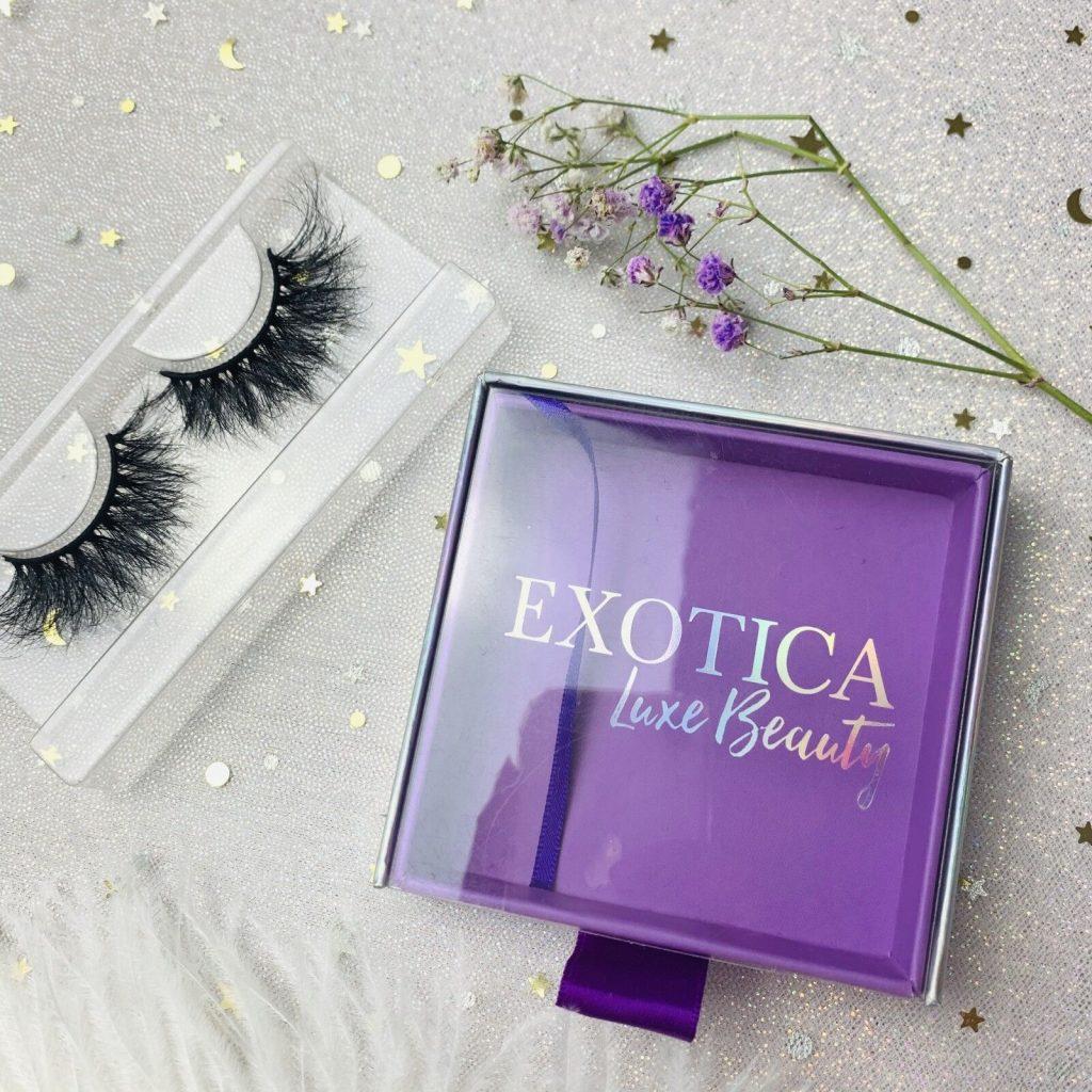 Square Purple Eyelash Packaging Boxes With Logo