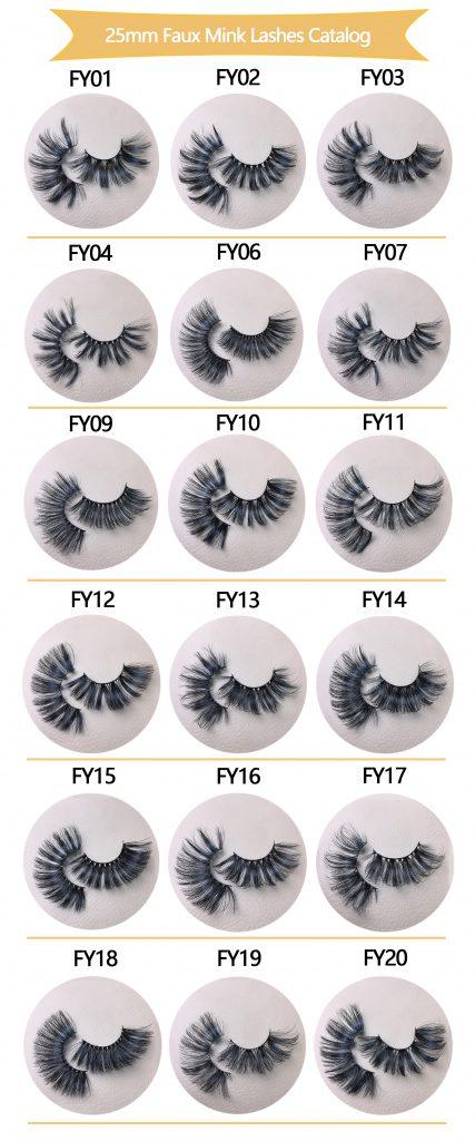 25mm Faux Mink Lashes Catalog