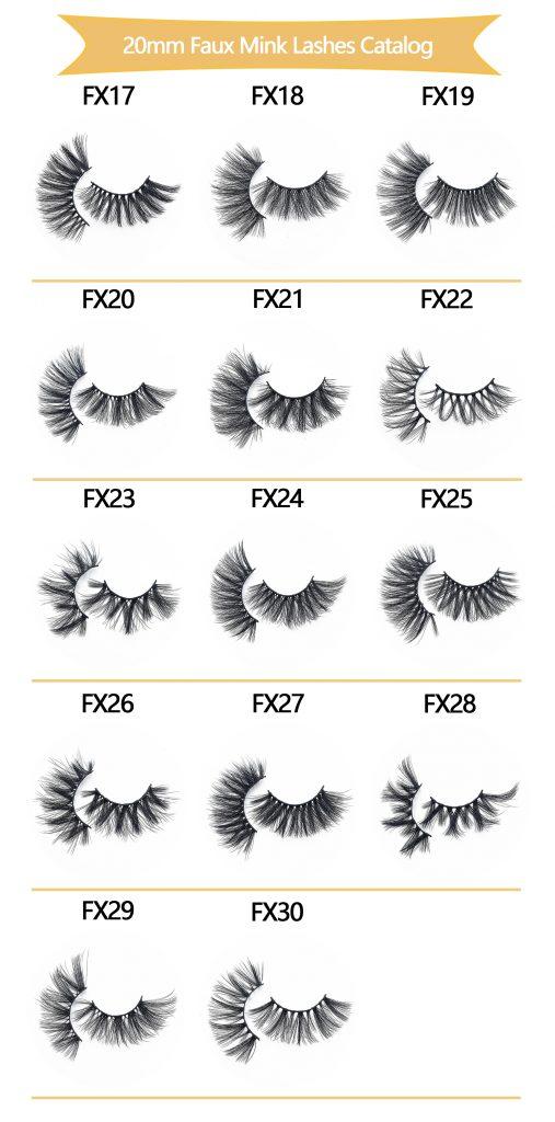 Wholesale 20MM Faux Mink Eyelashes
