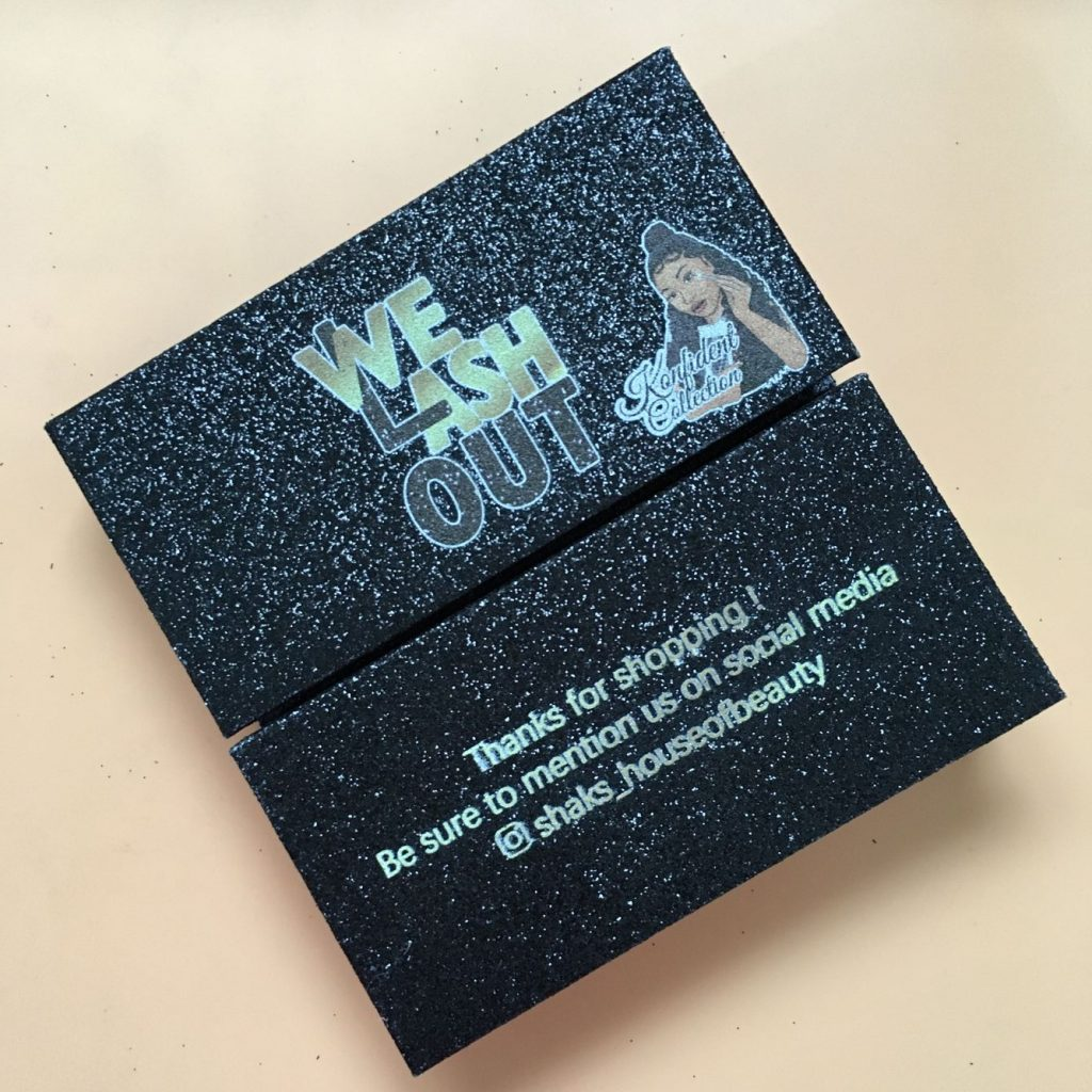 Black Glitter Eyelash Packaging Box