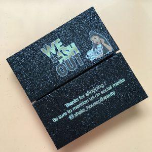 Black Glitter Eyelash Packaging Box